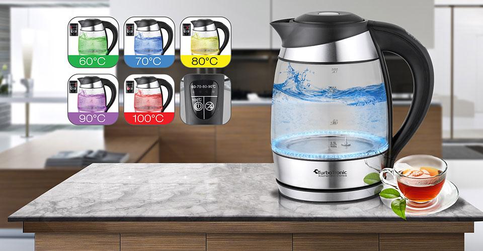 Wasserkocher mit Temperatureinstellung