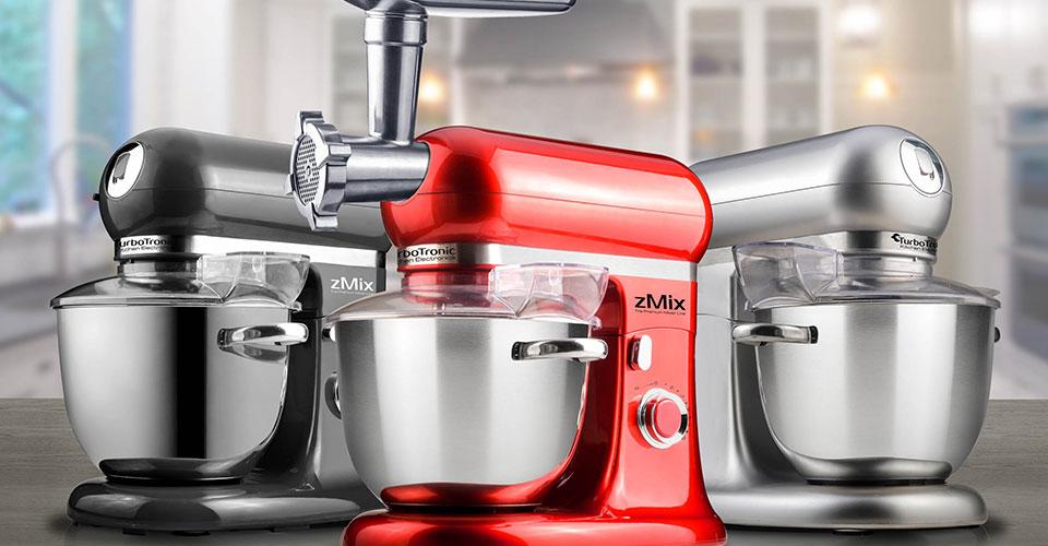 Küchenmaschine mit Edelstahl-Schüssel